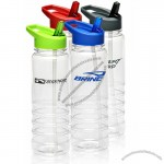 24 Oz. Gripper Bottle With Colored Cap And Straw