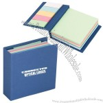 250 Sheet Memo Book With 125 MultiColor Stickey Notes