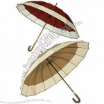 "27"" Straight Wooden Umbrella with 16 Ribs and 16mm Shaft"