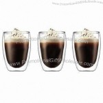 280mL Heat-resistant Double Wall Glass Coffee Cups
