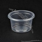 2oz Disposable Plastic Sauce Cup With Lid