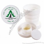 3 1/2 Oz. Collapsible Cup With Pill Box