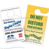 "3 1/2"" x 6"" Rectangle shaped thermal laminated door hanger"