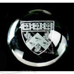 "3"" diameter - Dome magnifier crystal paperweight."