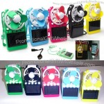3 in 1 Mini Solar Power Fan with USB Phone Charger and LED Light
