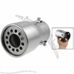 "3"" Outter Dia End Auto Car Exhaust Pipe Muffler Silencer Silver Tone"