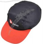 3 panel baseball cap with embroidery.