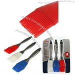 3 Silicone Basting Brushes w/ Stainless Steel Handles