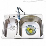 304 Stainless Steel Sink Two Bowls