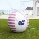 "35"" Pink Whale Sprinkler Ball"