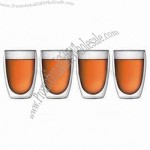 350mL Heat-resistant Double Wall Glass Cups
