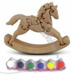 3D Nature Animal Puzzle/Rocking Horse/DIY Toy, Handcrafted from Solid Wood