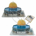 3D Puzzle Dome of Rock Model Card Kit (25-piece)
