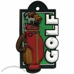 3D Rubber Travel Golf Tag