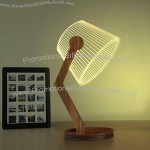 3D Wooden Desk Lamp