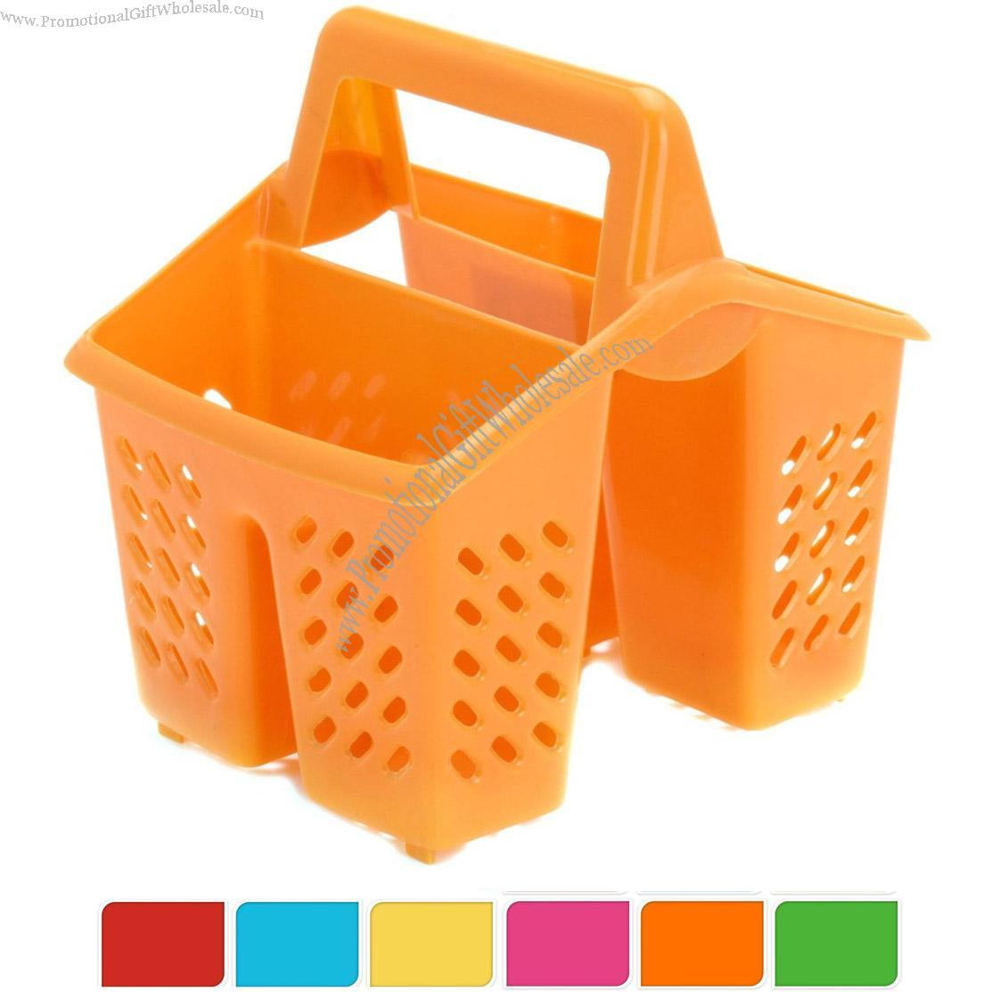 Compartment plastic sink tidy filter cutlery drainer