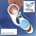 4 in 1 Nail Clipper 3X Magnifier Light