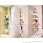 4 Level Bathroom Corner Shelf - White