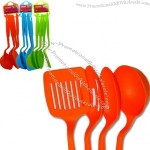 "4 Pcs Nylon Slotted Spatula Turner Spoons Utensils Set Cooking Kitchen 11"" Long"