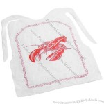 4 Pcs/Pack Disposable Lobster Bibs