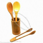 4-piece Bamboo Serving Tools Set