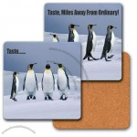 "4"" Square Coaster W/3d Lenticular Images Of Penguins"