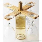 4 Wine Goblet Bamboo Holder