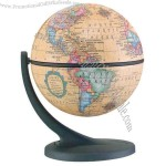 "4.3"" globe features an easy-to-read map indicating political borders and capital cities"