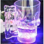400ml Colorful LED Flashing Skull Head Cup Beer Mug