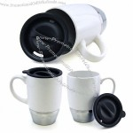 400ML Stainless Steel Base Ceramic Mug