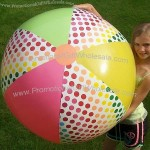 "44"" Rainbow Spotted Beach Ball"