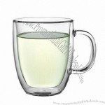 450mL Double-walled Glass Cup