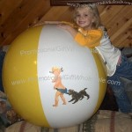 "46"" Ads 2 Color Coppertone Beach Ball"