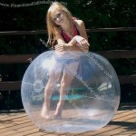 "48"" 1 Color Crystal Clear Beach Ball"