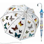 "48"" arc Butterfly Manual Open Stick Bubble Umbrella Clear Galleria Windproof"