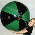 "48"" Black/Green Beach Ball"