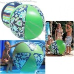 "48"" Green Flower Beach Ball"