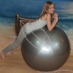 "48"" Shiny Silver Beach Ball"