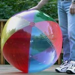 "48"" Transparent 6 Color Beach Ball"