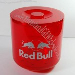 4L Plastic Ice Bucket For Red Bull Energy Drink