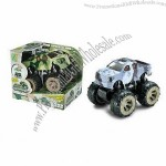 4W Plastic Friction Military Car Toy, Four Wheels Synchronous