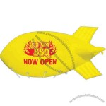 5 ft. x 12 ft. Giant floating helium sky blimp inflatable with 150' nylon tether.