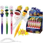 5 In 1 Bubble Stamp Pen W/Light And Polystone