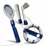 5-in-1 Game Accessories for Wii , Includes Tennis Racket, Baseball, Golf, Wheel, and Holder