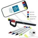 5 in 1 Pen,Mechanical Pencil,Eraser & Highlighter Set