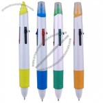 5-in-1 Push Action Pen / Highlighter (4 Ballpoint Ink Colors + Marker)