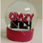 "5"" Personalized Polyresin Water Globes"