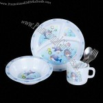 5-piece Melamine Children's Dinner Set
