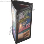 "5"" x 7"" - Reversible sewn edge menu tent with three viewing areas"