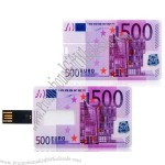 500 Euro Card USB Flash Drives
